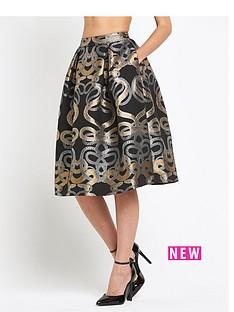 ted-baker-ted-baker-snake-jacquard-full-skirt