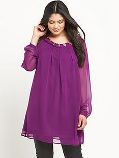 so-fabulous-metal-trim-cut-out-neck-long-sleeve-tunic-dress-14-32