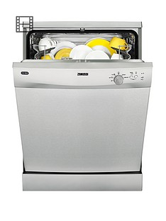 Zanussi ZDF21001XA 12-Place Full Size Dishwasher - Stainless Steel