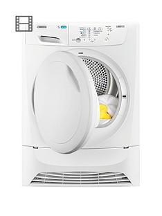 Zanussi ZDP7205PZ 7kg Condenser Sensor Dryer - White