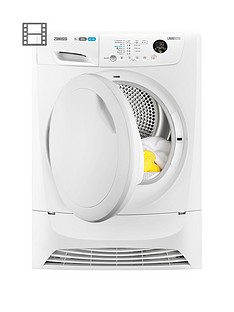 Zanussi ZDH8333PZ 8kg Heat Pump Condenser Sensor Dryer - White
