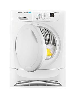 zanussi-zdh8333pz-8kg-heat-pump-condenser-sensor-dryer-white