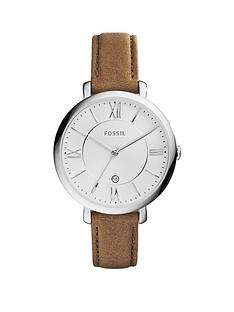 fossil-fossil-jacqueline-silver-plated-case-tan-leather-strap-ladies-watch