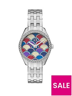 armani-exchange-silver-mosaic-dial-and-stainless-steel-bracelet-ladies-watch