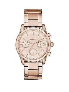 dkny-dkny-rockaway-chronograph-rose-gold-plated-stainless-steel-bracelet-ladies-watch