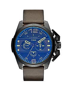 diesel-diesel-ironside-black-multi-dial-with-green-leather-strap-mens-watch