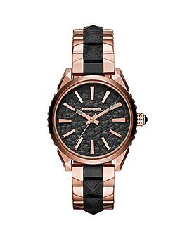 diesel-diesel-nuki-black-dial-with-rose-gold-an