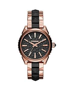 diesel-diesel-nuki-black-dial-with-rose-gold-and-leather-bracelet-ladies-watch