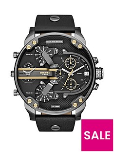 diesel-mr-daddy-black-multi-dial-black-leather-strap-mens-watch