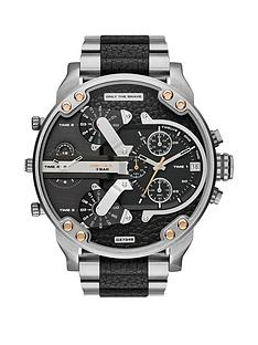 diesel-stainless-steel-and-black-leather-bracelet-mens-watch