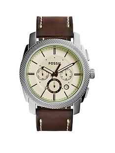 fossil-fossil-machine-chronograph-brown-leather-strap-mens-watch