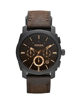 fossil-machine-chronograph-amber-dial-black-ip-stainless-steel-bracelet-mens-watch
