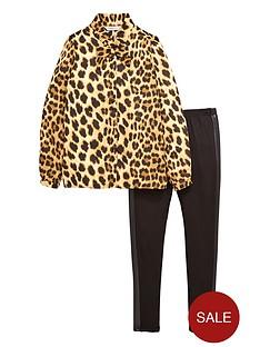 freespirit-girls-animal-print-pussy-bow-blouse-and-leggings-set-2-piece