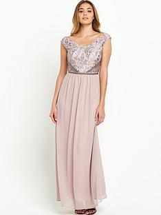little-mistress-little-mistress-v-neck-embellishedampnbsptop-maxi-dress