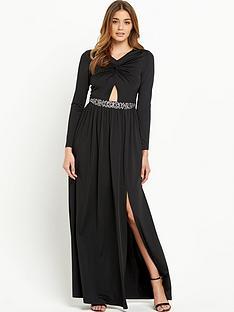 little-mistress-little-mistress-knot-front-maxi-dress