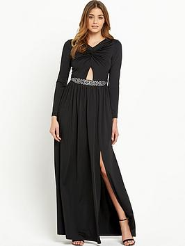 Little Mistress Knot Front Maxi Dress