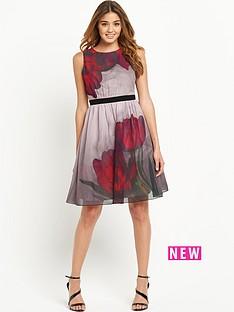 little-mistress-little-mistress-floral-placed-print-skater-dress