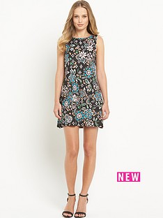 south-printed-pocket-tunic-dress