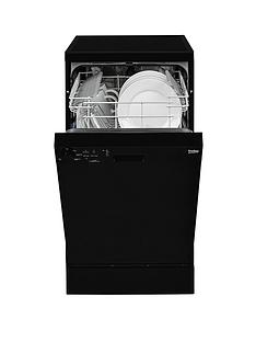 Beko DFS05010B 10-Place Slimline Dishwasher - Black Best Price, Cheapest Prices