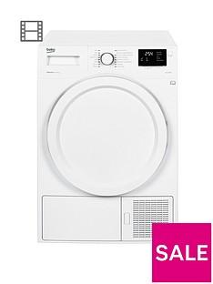 Beko DHY7340W 8kg Condenser Dryer with Heat Pump - White