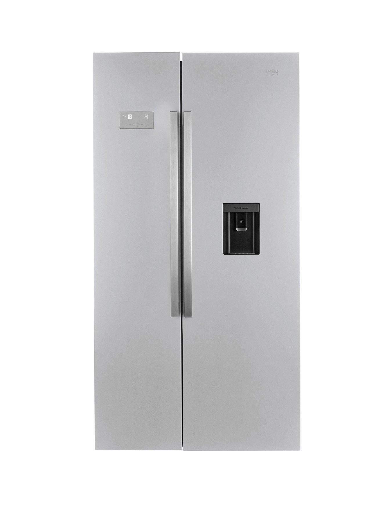 beko asd241x ecosmart american style fridge freezer with. Black Bedroom Furniture Sets. Home Design Ideas