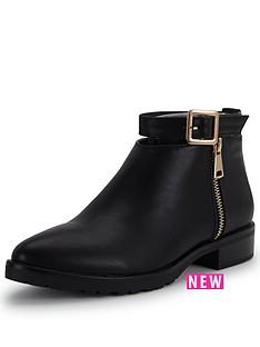 glamorous-glamorous-buckle-ankle-boot