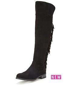 glamorous-tassel-over-the-knee-boots