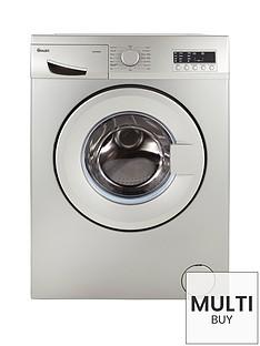 Swan SW2062S 8kg Load, 1200 Spin Washing Machine - Silver