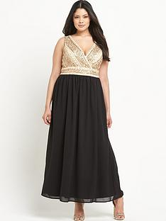 lovedrobe-embellished-wrap-over-maxi-dressnbsp