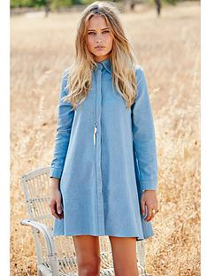 glamorous-chambray-swing-dress