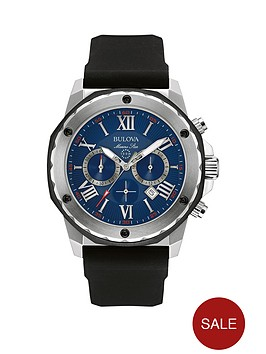 bulova-marine-star-sports-chronograph-blue-dial-black-rubber-strap-mens-watch