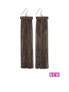 chain-drop-earrings-blackgold