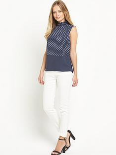 definitions-dot-print-sleeveless-blouse