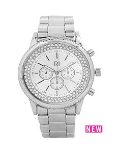 river-island-river-island-silver-tone-encased-stones-oversized-ladies-watch