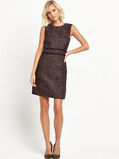 warehouse-frayed-pocket-tweed-dress
