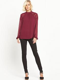 warehouse-embroidered-high-neck-top