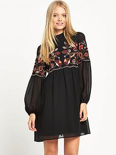 warehouse-embroidered-gypsy-smock-dress
