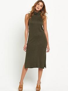 warehouse-roll-neck-sleeveless-midi-dress