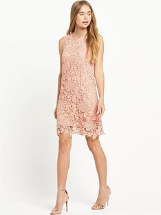 warehouse-sleeveless-lace-dress