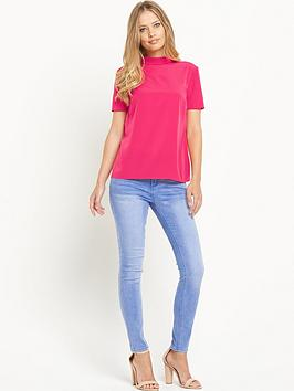 Definitions Roll Neck Short Sleeve Top