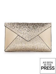 glitter-panel-envelope-clutch-gold