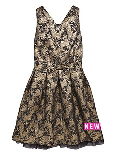 freespirit-girls-jacquard-strappynbspprom-dress