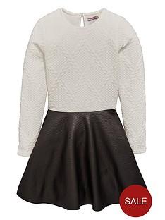 freespirit-bubble-jacquard-pu-skirt-dress
