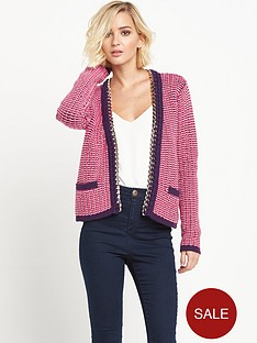 juicy-couture-gold-chain-embellished-cardigan-pink