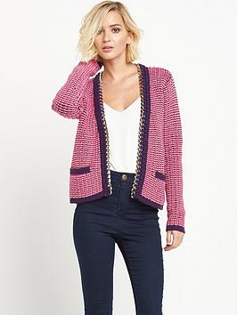 Juicy Couture Gold Chain Embellished Cardigan - Pink