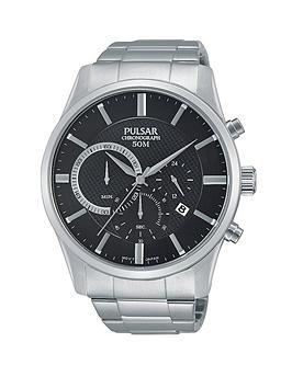 pulsar-chronograph-black-dial-silver-bracelet-mens-watch