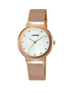 lorus-white-sunray-dial-rose-gold-plated-mesh-style-bracelet-ladies-watch