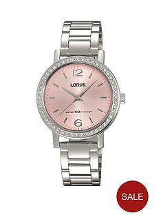 lorus-lorus-pink-sunray-dial-stainless-steel-ladies-watch