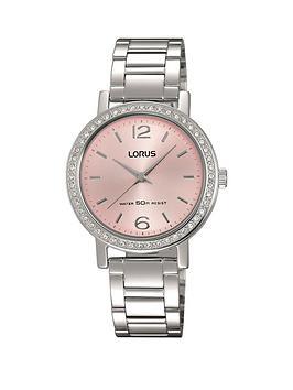 lorus-pink-sunray-dial-stainless-steel-ladies-watch