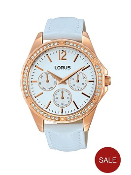 lorus-lorus-white-sunray-dial-and-cystal-bezel-with-white-leather-strap-ladies-watch